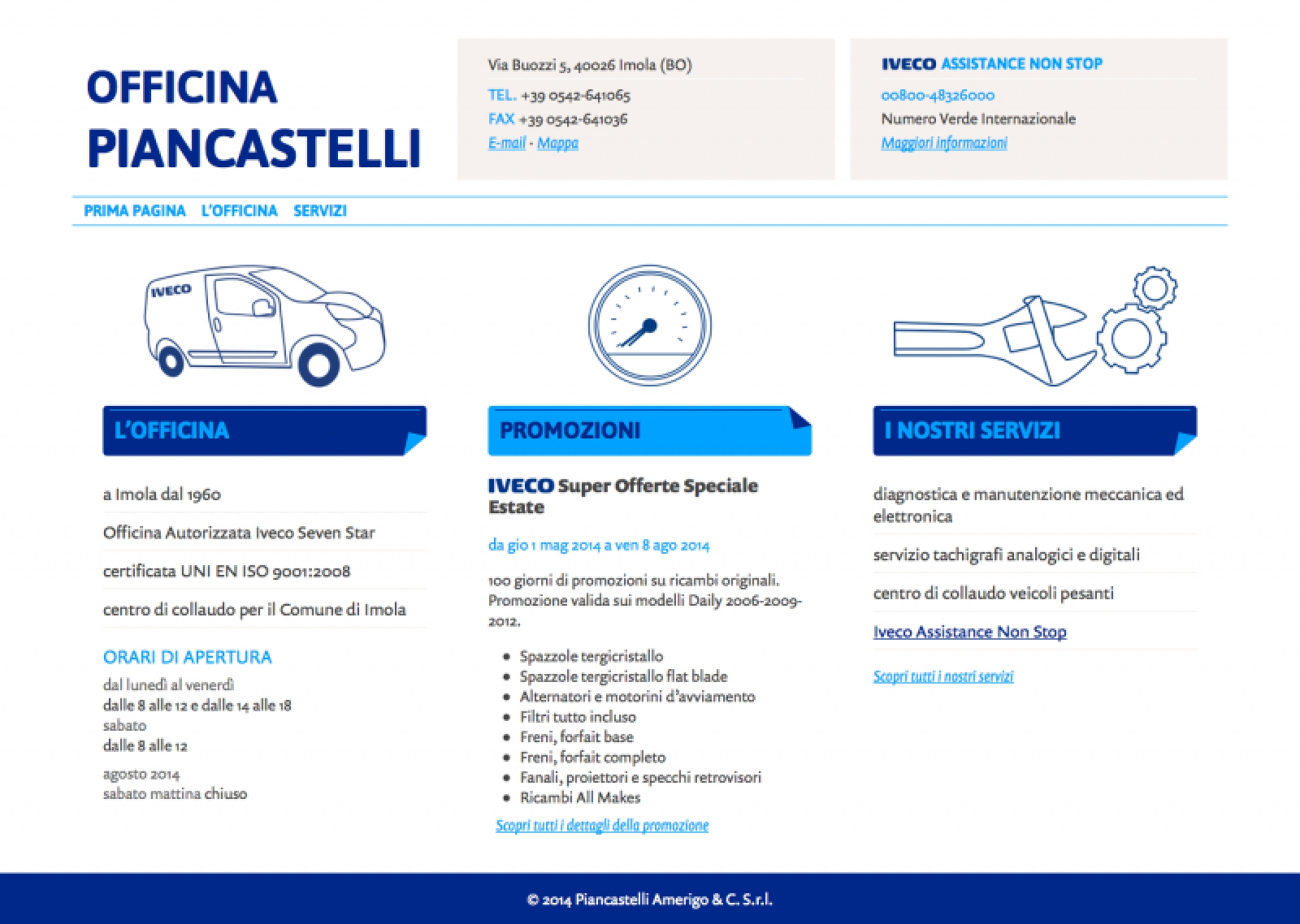 piancastelli.it – home page